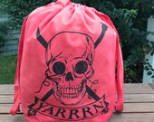 Large Yarrrrn Knitting bag - Bloody Red