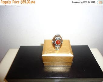 The Sale Is On Sale Beautiful Must See Brass/Ruby Turkish Ring, Sz.6