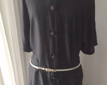 VINTAGE CUE 1980'S Black Tunic - Made in Australia