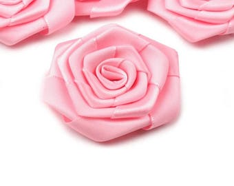 3 big flower rose satin 5 cm
