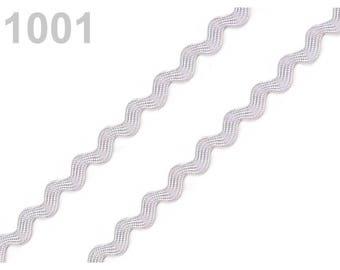 3 m 4 mm ric rac Croquet serpentine gray viscose