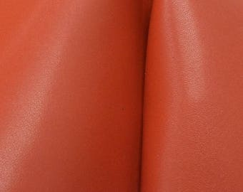 "Dark Paprika Spice Leather Cow Hide 4"" x 6"" Pre-cut 3-4 oz smooth DE-66256 (Sec. 3,Shelf 5,C,Box 5)"