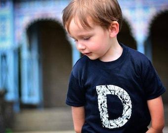 Elements Initial Splatter Tee / Personalised Initial Tee / Children Toddler Kids Baby T-SHIRT / trendy /