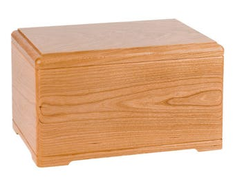 Natural Cherry Designer Wood Cremation Urn