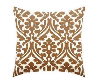 20% OFF SALE Caramel brown pillow covers, chocolate brown pillows,  decorative pillows, brown pillow, caramel pillow, euro sham ZIPPER Closu