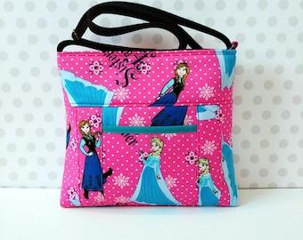 Pink Frozen Small Cross Body Bag