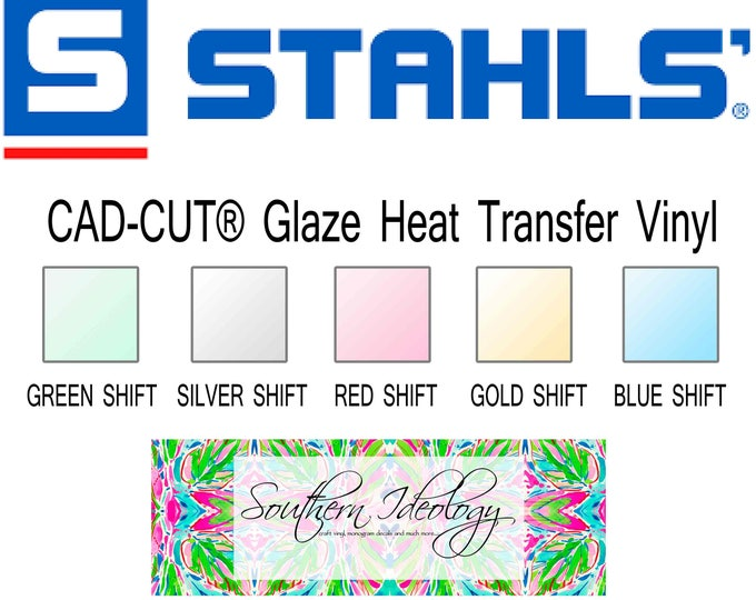 Featured listing image: Stahls'® CAD-CUT® Glaze Heat Transfer Vinyl sheet 12x20 inch iridescent shimmer htv