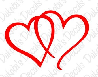 Interlocking Hearts SVG for Download