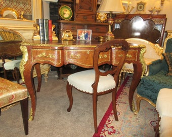 FRENCH WRITING DESK with Leather Top