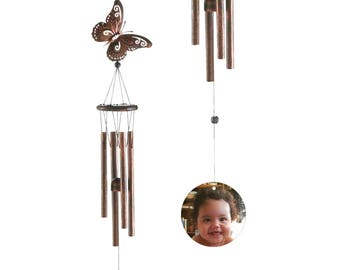 Personalized Wind Chime - Grandma - Nana - Add a Name or Photo. Cutom gift. Make-it-Personal! Windchime, Mom, Sister, Memorial, Birthday