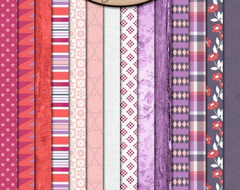Digital Scrapbook: Paper, BFF Paper Pack