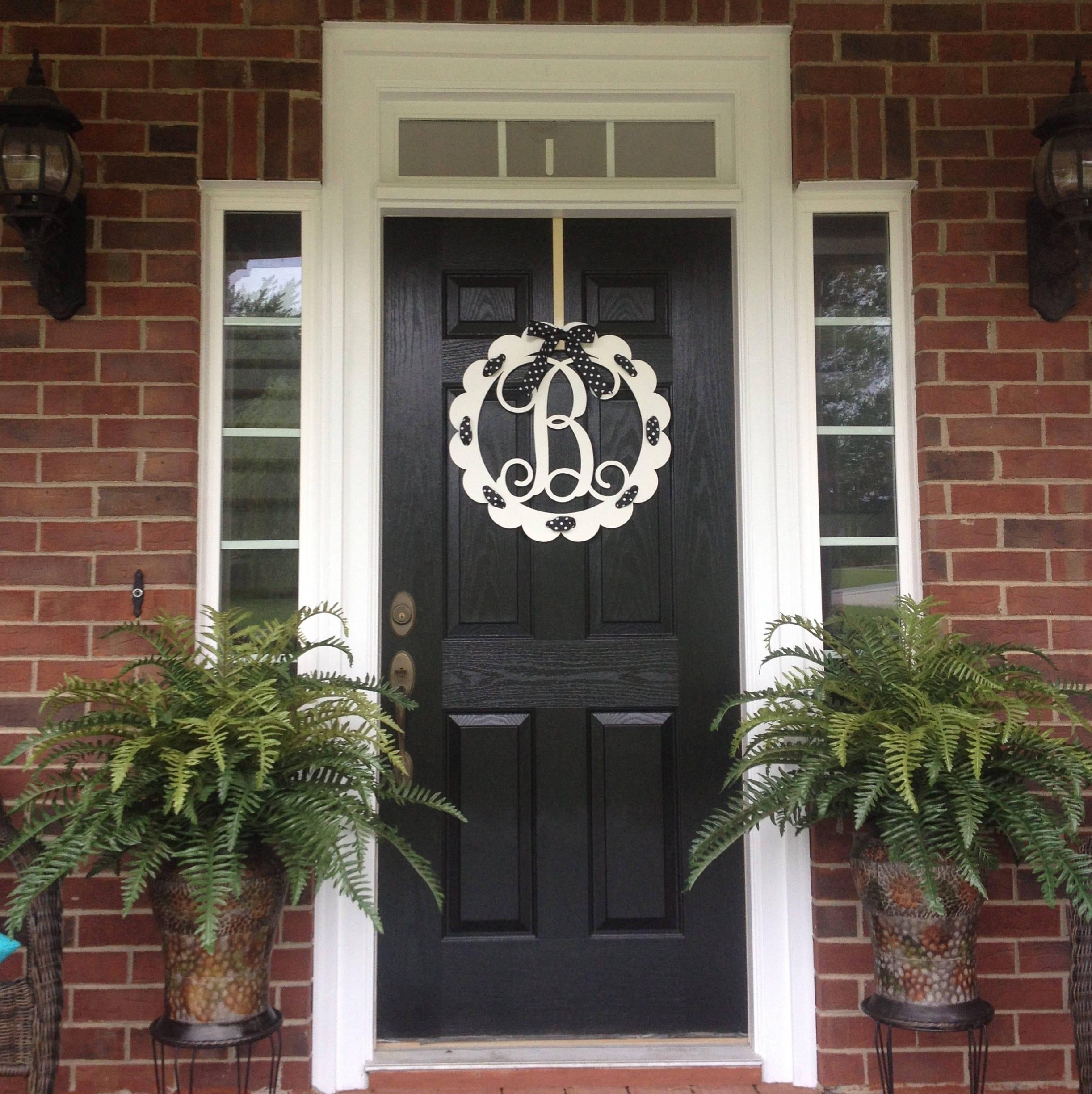 Monogram Front Door Wreaths - Monogram door wreath front door monogram front door wreaths monogram wreath initial wreath