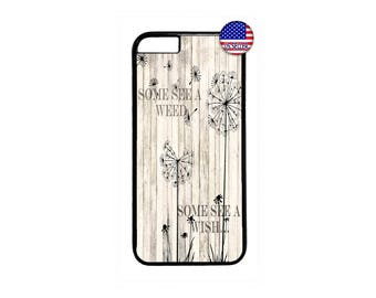 Cute Dandelion Life Quote Fashion Hard Rubber TPU slim Case Cover for iPhone X 8 7 6 6s PLUS 5 5s SE 5C 4 4s iPod Touch 4 5 6