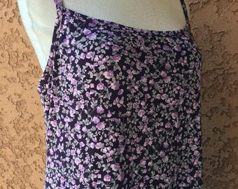 Jalate purple little flower dress made in USA Large