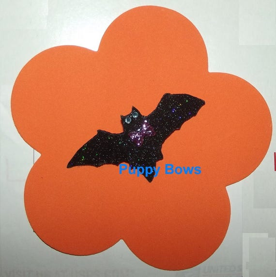 Cute little halloween bat pet hair bow