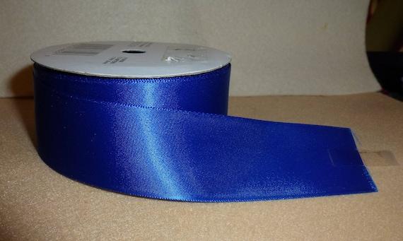 """Puppy Bows ~  craft supplies royal blue single face ribbon 1 5/16"""" x 8 yards (CS2)"""