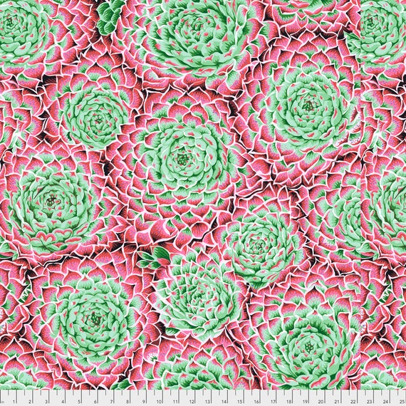 Pre-Order SUCCULENT PINK PWPJ091  Philip Jacobs for Kaffe Fassett Collective Sold in 1/2 yard increments Pre-Order Item