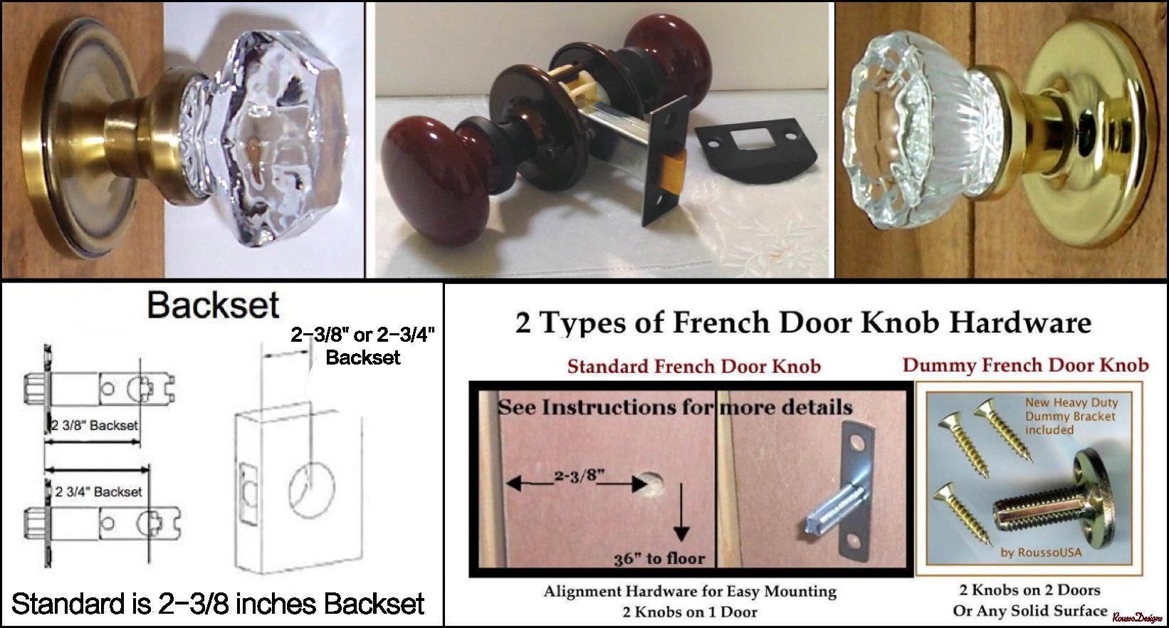 Crystal door knobs on french doors -  149 95