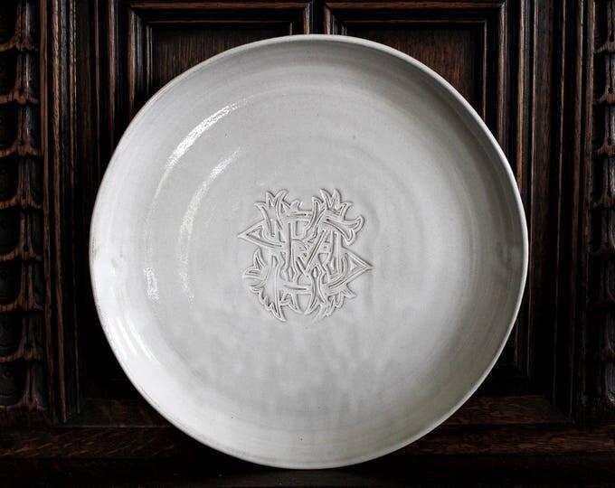 Custom Design Monogrammed Dinner Plate