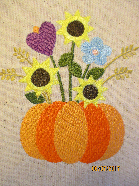 Autumn - Folk Art Pumpkin wall hanging, pumpkin with flowers, folk ...