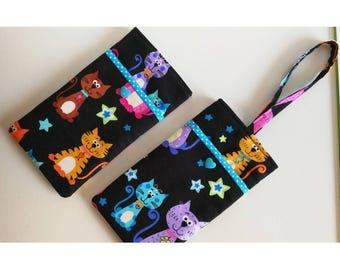 Cat phone pouch, cat phone case, cat phone sleeve