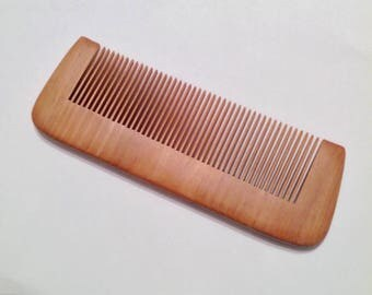 Organic Red Wood Beard Comb Natural Antistatic Massaging Therapeutic Beard Basics