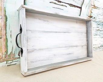 Wooden tray - shabby chic decor