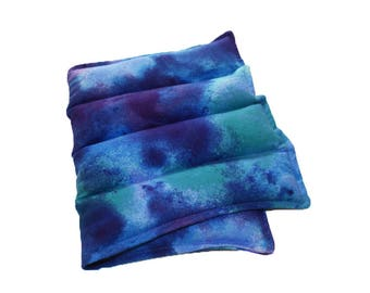 Large Lavender Flax Seed Heat Pack Flannel Microwave Heating Pad Pack Colorful Heating Pad for Stress and Pain Relief