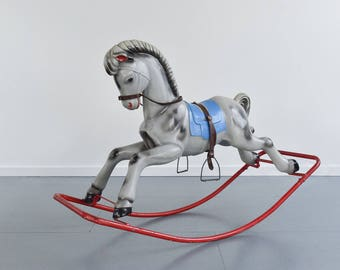 Vintage Plastic Ride On Rocking Horse