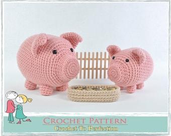Amigurumi Pattern, Crochet Pattern Amigurumi, Amigurumi Piglet Pattern, Crochet Amigurumi Pattern, Amigurumi Pig Pattern, Amigurumi Piggy