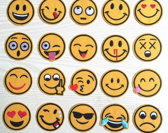 20pcs /set expression Embroidered  Applique Patch,Iron On smile n cute face Patch for T-Shirt or Coat,Decoration Embroidery iron on