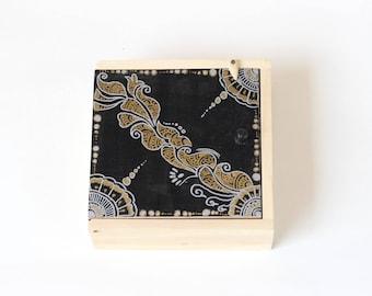 IVEI handpainted wooden Mehendi Art trinket box