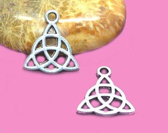 Charms silver Celtic triskel 146x14mm