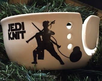 Star Wars yarn bowl, Jedi knit , Rey jedi knight funny bowl