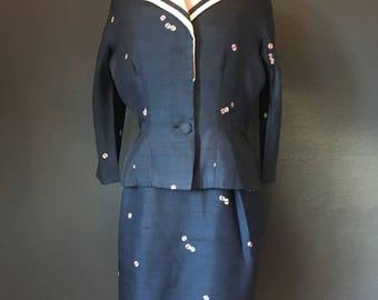 Roseweb vintage dress and jacket.