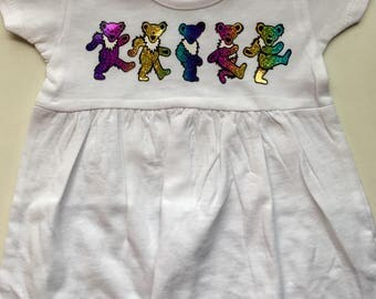 Grateful Dead Dancing Bears Baby and Toddler Dress