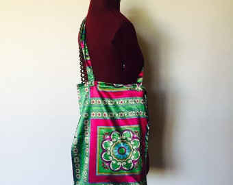 Silk Shoulder Bag Shopper Tote Large Boho Tracy Porter