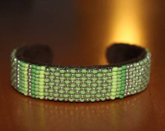 beaded bracelet woven by hand in various colors