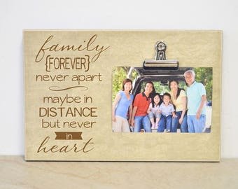 Family Picture Frame, Family Gift Frame, Moving Away Gift, Housewarming Gift, Going Away Gift, Christmas Gift For Family, Family Photo Frame