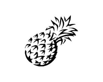 "Small Pineapple Stamp, pineapple silhouette, tropical fruit, cute pineapple, mini pineapple stamp, tropical stamp, 1"" x 1"" (minis102)"