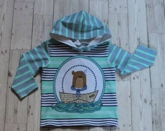 Hooded Top....Sailor Bear Front