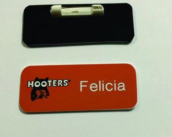 Hooters Name Tag