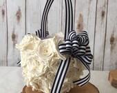 Custom flower girl rose basket