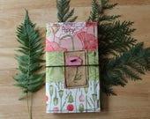 08 POPPY FLOWER - Fabric Traveler's Notebook Cover
