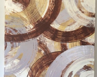 SALE Abstract Gold Art Geometric Painting Gold Silver Painting Acrylic Canvas Art Original Gold Art Circle Painting Geometric Art 24x24 canv