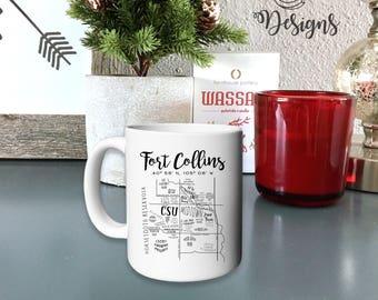 FoCo Map 15 oz. Mug - Fort Collins Gift Ideas