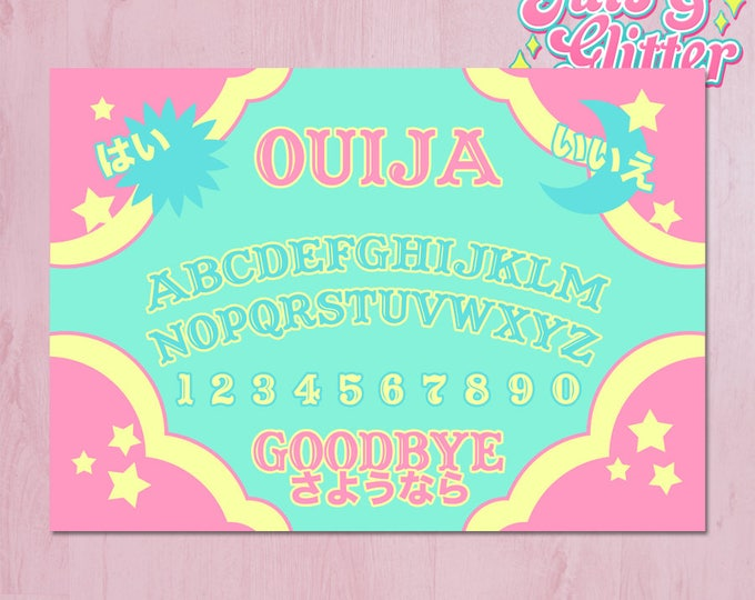 Kawaii Ouija Board Illustration A3 Archival Fine Art Print