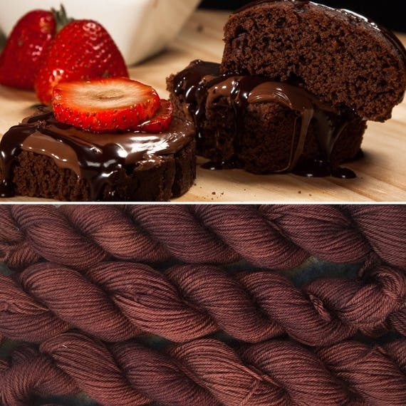Chocolate Cake 20g, merino nylon sock yarn miniskein