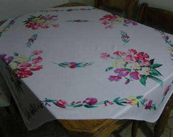 Vintage Sweet Pea Tablecloth