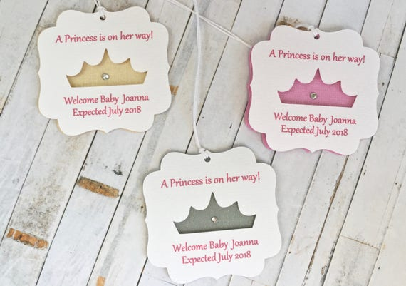 Princess Baby Shower Favor Tag Quinceanera Favors Tags Pink And